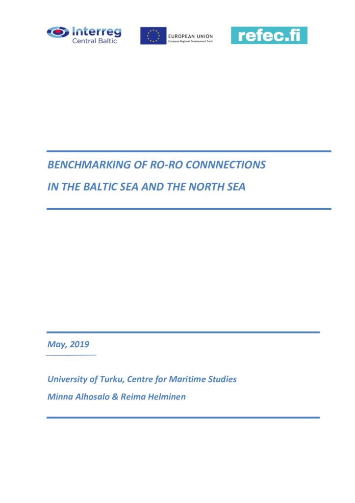 thumbnail of Benchmarking of ro-ro connections in the Baltic Sea and the North Sea