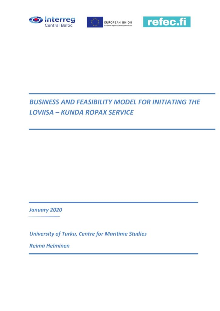 thumbnail of Business and feasibility model for Loviisa-Kunda ropax service_draft