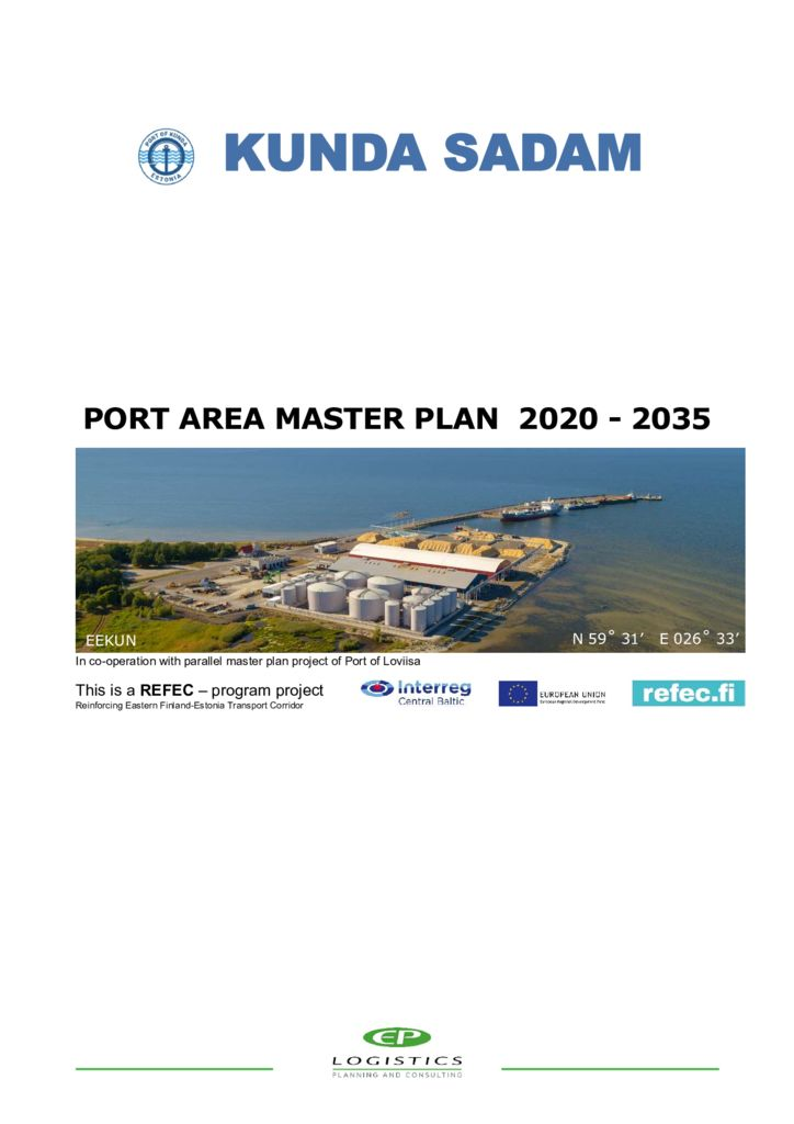 thumbnail of Port of Kunda master plan 2019